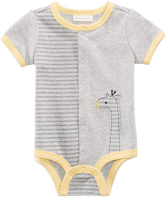 First Impressions Striped Cotton Giraffe Creeper, Baby Boys, Created for Macy's
