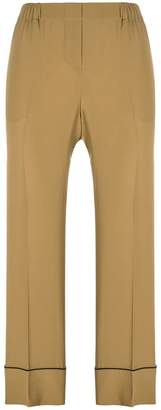No.21 cropped wide-leg trousers