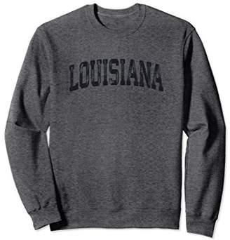 Vintage Louisiana Crewneck Sweatshirt College Style Sports U