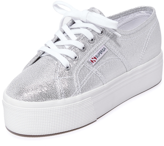 Superga 2790 Platform Lame Sneakers $89 thestylecure.com