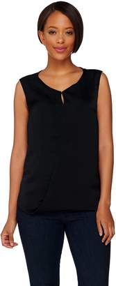 Halston H By H by Sleeveless Top w/ Front Keyhole Detail