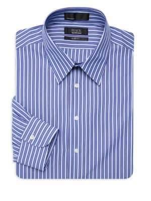 Saks Fifth Avenue BLACK Striped Dress Shirt