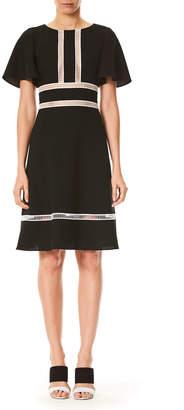 Carolina Herrera Half-Sleeve Ladder Stitch Dress