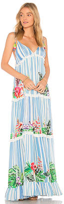 Rococo Sand Stripe Blossom Dress