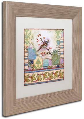 Trademark Global Rachel Paxton 'Edgartown Sparrow' Matted Framed Art