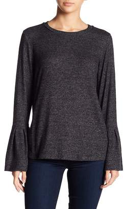 Gibson Cozy Ruffle Bell Sleeve Pullover