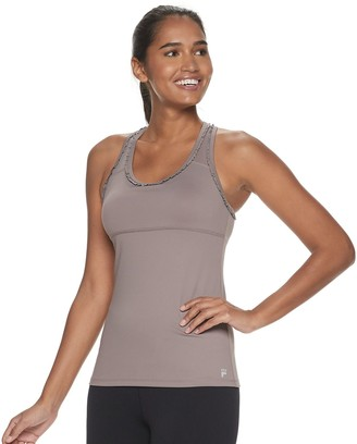 Fila Sport Women's SPORT Mini Ruffle Tank Top with Built-In Bra