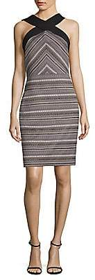 Laundry by Shelli Segal Women's Jacquard Geometric Sheath Dress - Size 0