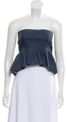 Apiece Apart Strapless Top w/ Tags Blue Strapless Top w/ Tags