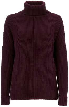 Berry Polo Neck Jumper