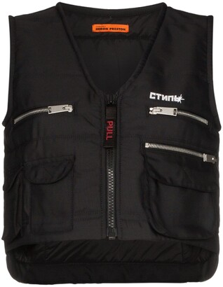 Heron Preston multi-pocket zip-up vest