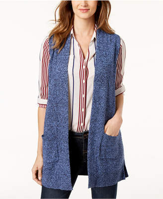 Karen Scott Petite Marled Sweater Vest