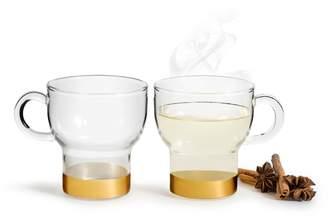 Sagaform Set of 2 Glass Coffee Mugs
