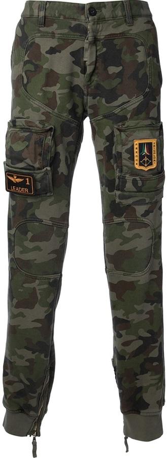Aeronautica Militare skinny cargo trouser