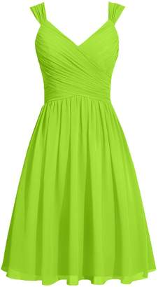 Cdress Short Bridesmaid Dresses Chiffon Cocktail Prom Gowns Evening Party Dress Straps Sashes