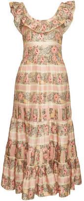 LoveShackFancy Joanne Printed Silk Dress