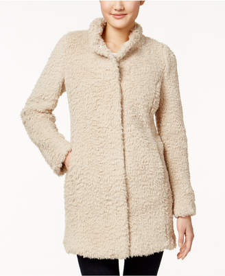 Kenneth Cole Faux-Fur Walker Coat $200 thestylecure.com
