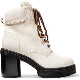 Marc Jacobs Crosby Textured-leather Ankle Boots - White