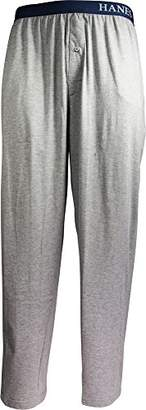Hanes Men's Knit Pant with Logo Waistband