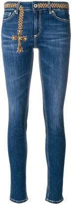 Dondup embroidered cross skinny jeans