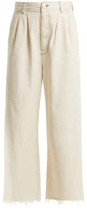 MM6 MAISON MARGIELA High Rise Wide Leg Jeans - Womens - Ivory