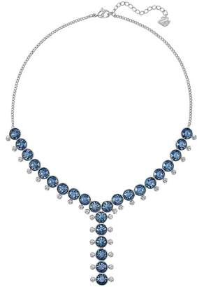 Swarovski Rhodium Plated Crystal Y Medium Necklace