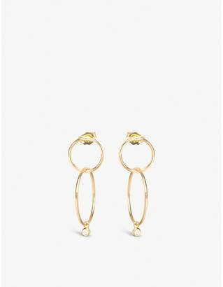Chicco The Alkemistry Zoë 14ct yellow-gold and diamond double hoop earrings