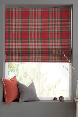 Next Crafted Thornly Woven Check Roman Blind