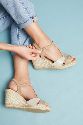 Anthropologie T-Strap Wedge Espadrilles