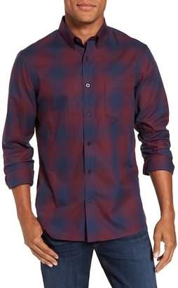 Nordstrom Slim Fit Check Sport Shirt (Regular & Tall)