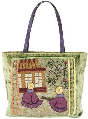 Etro Green Velvet Handbag