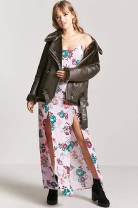 Forever 21 Floral M-Slit Maxi Dress