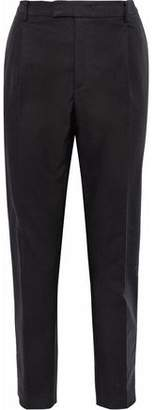 RED Valentino Cropped Cotton-Blend Poplin Tapered Pants