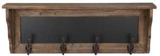 Gracie Oaks Chatalina Rustic Wood Entryway Wall Shelf