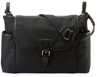 Burberry Nylon Flap-Top Diaper Bag