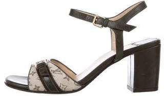 Louis Vuitton Monogram Leather Sandals