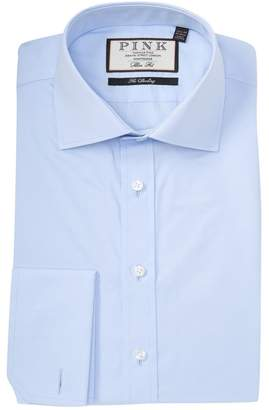 Thomas Pink Frederick Poplin Slim Fit Solid Dress Shirt