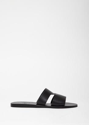 Ancient Greek Sandals Apteros Slides $220 thestylecure.com
