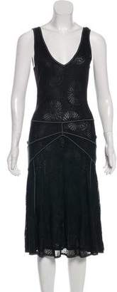 John Galliano Knit Midi Dress