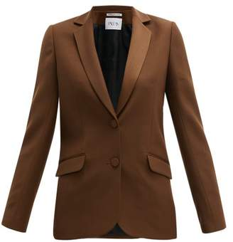 Pallas X Claire Thomson Jonville X Claire Thomson-jonville - Faulkner Single Breasted Wool Blazer - Womens - Brown
