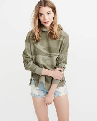 Abercrombie & Fitch Side-Snap Hoodie