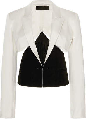 Haider Ackermann Cutout Cotton-Silk Blazer