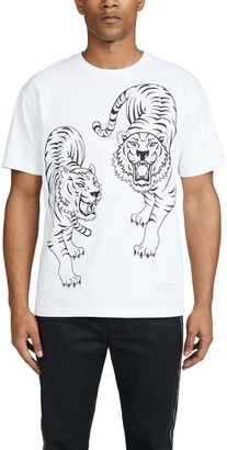 Kenzo Double Tiger Short Sleeve Tee Shirt