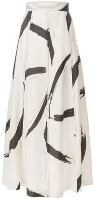 Zimmermann high-waisted patterned skirt