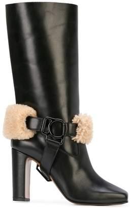 Off-White square toe boots