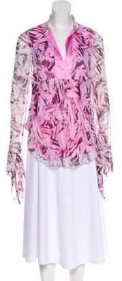 Diane von Furstenberg Floral Print Long Sleeve Top