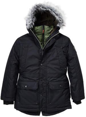 Hawke & Co Boys 8-20) Faux Fur Trim Expedition Parka