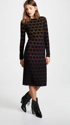 M Missoni Long Sleeve Midi Dress