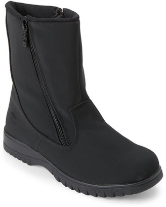 totes Black Rosie Waterproof Snow Boots $70 thestylecure.com