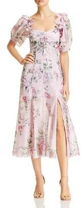 Alice McCall Postcard Floral Print Midi Dress